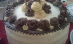 Black Forest Cake with Chocolate Roses