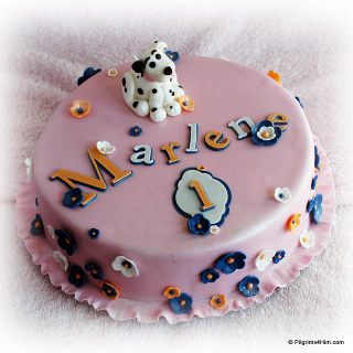 Doggy Fondant Cake